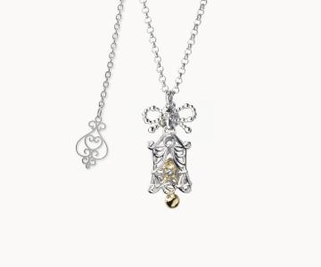 Allegria | collana in argento rodio/dorato 925 con movimento interno