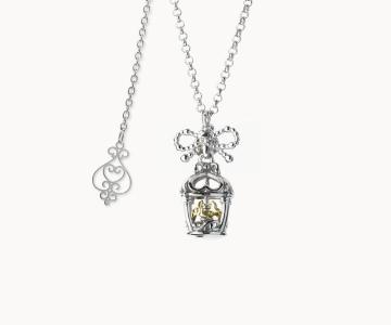 Ricordi | collana in argento rodio/dorato 925 con movimento interno