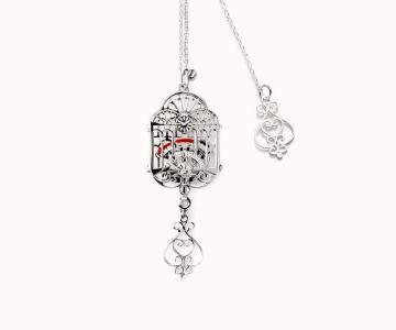 Treno dei desideri | girocollo in argento rodiato 925 con smalti