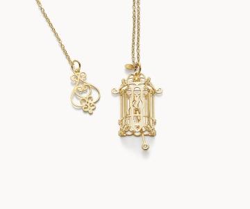 Gabbietta – Freedom | collana in argento dorato 925 con diamante