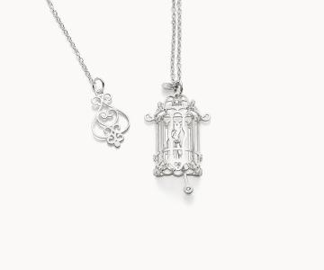 Gabbietta – Freedom | collana in argento rodiato 925 con diamante