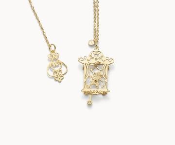 Teatro – Art | collana in argento dorato 925 con diamante