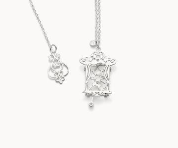 Teatro – Art | collana in argento rodiato 925 con diamante