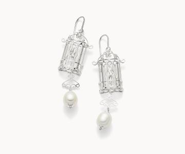 Gabbietta – Freedom | orecchini in argento rodiato 925 con perle