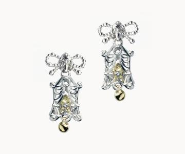 Allegria | orecchini in argento rodio/dorato 925 con movimento interno