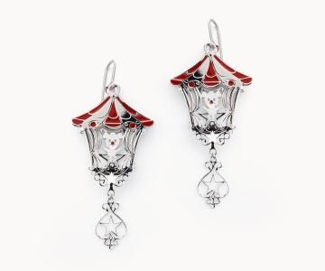 Circo | orecchini in argento rodiato 925 con smalti