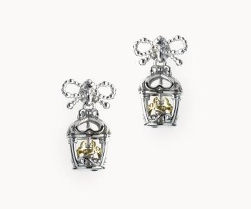 Ricordi | orecchini in argento rodio/dorato 925 con movimento interno